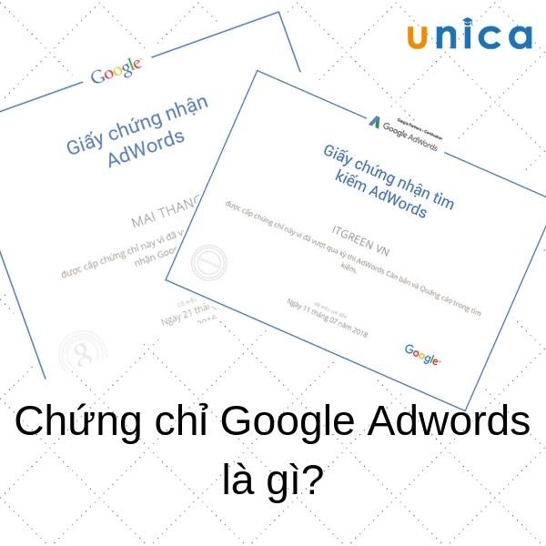 chứng chỉ google adwords là gì