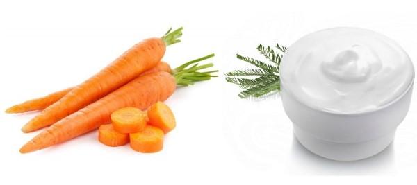 Mặt nạ cà rốt sữa tươi
