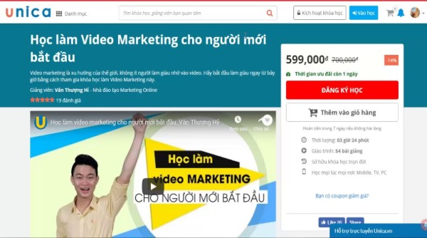 khóa học Học làm Video Marketing cho người mới bắt đầu