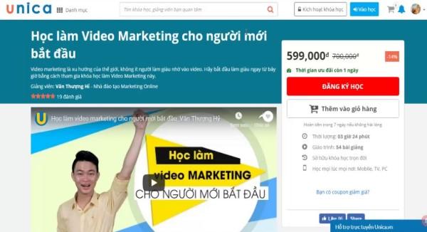 Học làm Video Marketing cho người mới bắt đầu của giảng viên Văn Thượng Hỉ