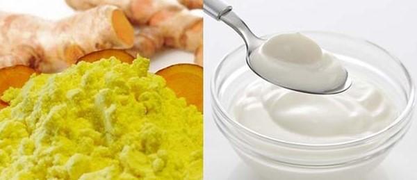 Mặt nạ tinh bột nghệ sữa chua giúp trị mụn và dưỡng da trắng hồng hiệu quả