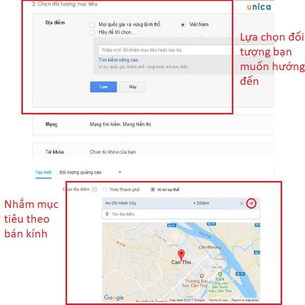 Lựa chọn đối tượng quảng cáo Google Adwords