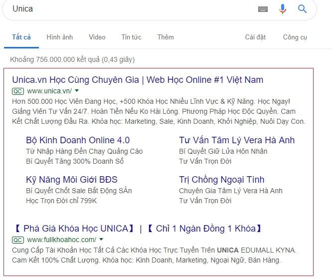 quảng cáo google adwords bằng văn bản
