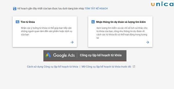 lựa chọn keyword quảng cáo Google Adwords