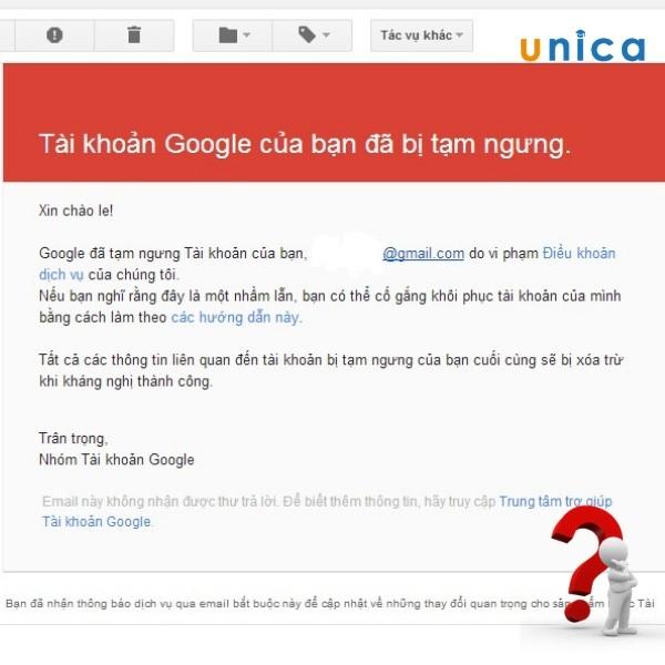 lý do tại sao tài khoản google adwords của bạn bị tạm ngưng