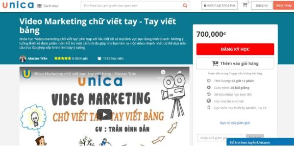 Khóa học Video Marketing chữ viết tay - Tay viết bảng