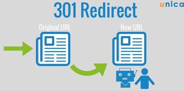 Redirect 301 được sử dụng khi bạn muốn đổi một URL cũ sang một URL mới