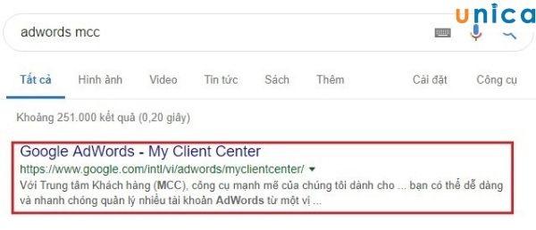 lập tài khoản mcc adwords