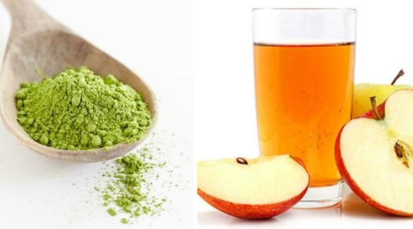 Mặt nạ trà xanh giấm táo trị thâm hiệu quả