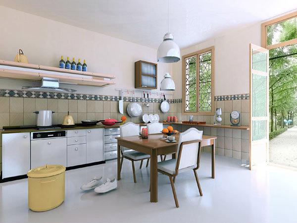 Sửa lại nhà bếp theo hướng bạn vừa chuẩn bị đồ ăn vừa hướng được ra cửa nhà